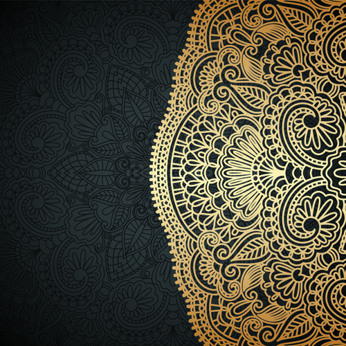 lace decorative pattern vector background 03 free