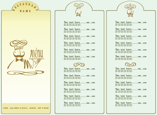 Restaurant Menu List Design Elements  Free  Free Download