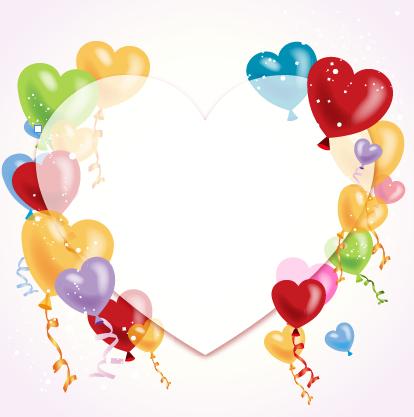 Colored dream heart design vector 03 free
