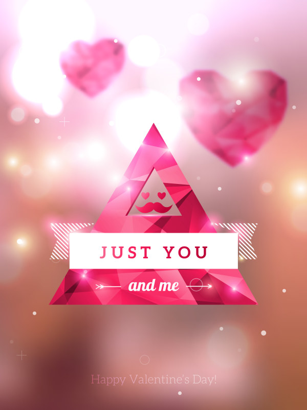 Diamond heart creative vector graphics 04 free