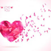 Diamond heart creative vector graphics 02 free
