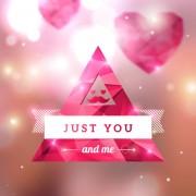 Diamond heart creative vector graphics 04 free