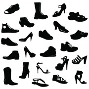 Different shoes design vector silhouette 01 free