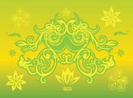 Flower Design Elements vector free