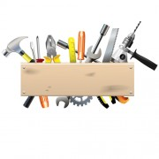 Hardware tools with wood boards background vector free