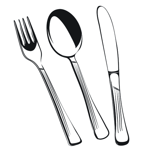 Realistic Kitchen Cutlery Design Vector Graphics 01 Free Free Download