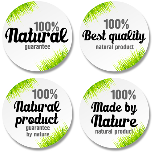 Green grass with sale round stickers vector free