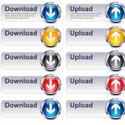 Creative website buttons vectors set 03 free