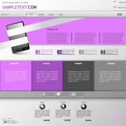 Purple style business website creative template vector 04 free