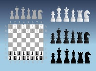 Chess Illustrations vector free