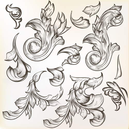 Floral Swirl Ornament Design Vector 02 For Free Download Free Vector