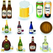 Beer can and beer bottle creative vector free