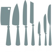 Different kitchen cutlery silhouette vector 01 free