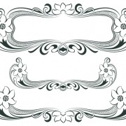 Vintage decor borders with frames design vector 02 free