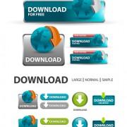 Creative website buttons vectors set 05 free