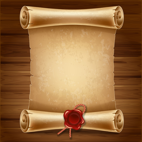 scroll outline template - creative scroll paper background vector set 14 free free