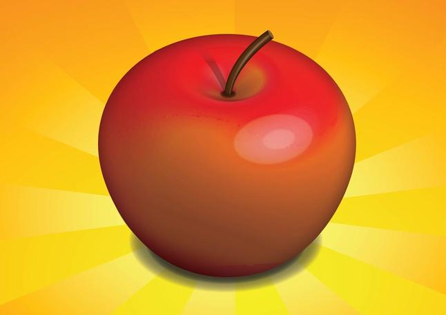Free Realistic Apple Vector