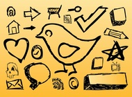 Hand Drawn Icons vector free