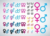 Male Female Icons vector free