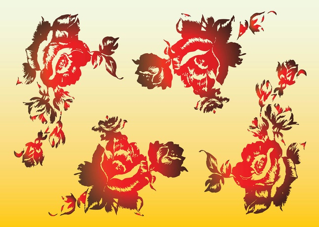 Red Roses Vectors free
