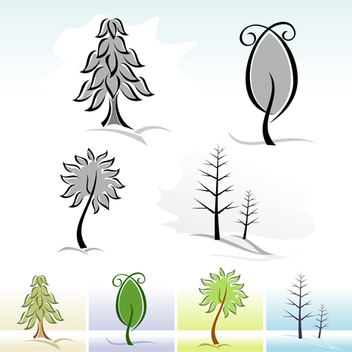 Drawing cute tree vector graphics 07 free free download for Cute tree drawing