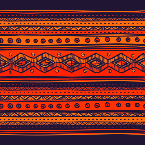 Ethnic Style Tribal Patterns Graphics Vector 03 For Free