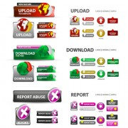 Creative website buttons vectors set 01 free