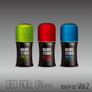 Deo cosmetic bottle vector set 02 free