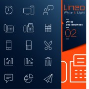 Office and business outline icons vector 01 free