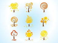 Cool Tree Icons vector free