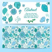 Cute abstract elements banners vectors 05 free