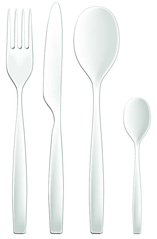 Realistic Kitchen Cutlery Design Vector Graphics 10 Free Free Download