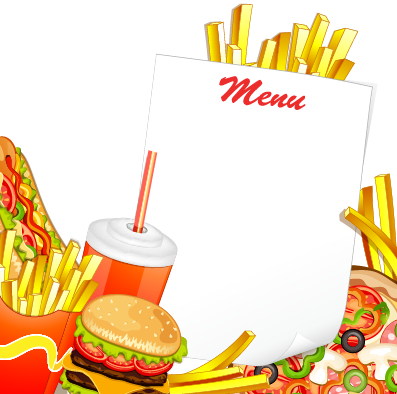 Creative Fast Food Products Background Vector 07 Free