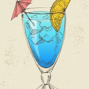 Retro cocktail design vector set 14 free