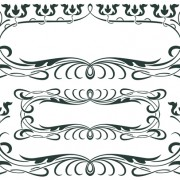 Vintage decor borders with frames design vector 04 free
