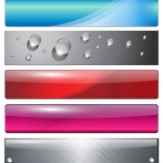 Vector web buttons creative design set 03 free