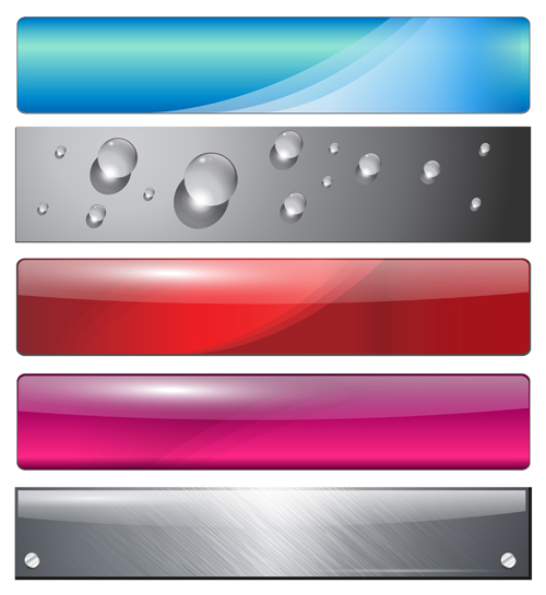 Vector web buttons creative design set 03 free | Free download