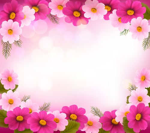 Beautiful flower frame vector graphics 01 free | Free download