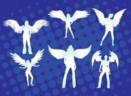 Angel Girls vector free