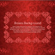 Red decorative pattern background vector free