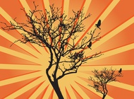 Tree Sunburst Graphics vector free