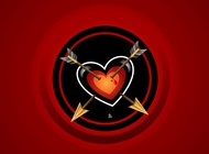 Wounded Heart Design vector free