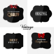 Cute vintage labels cards vector graphics 03 free
