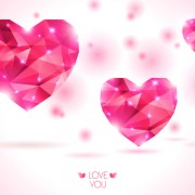 Diamond heart creative vector graphics 01 free