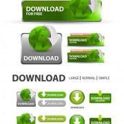 Creative website  buttons vectors set 02 free