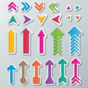 Cute paper arrows vector free