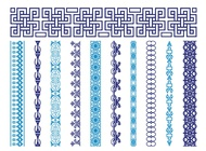 Retro Borders Set vector free