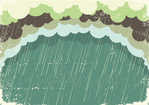 Rain with grunge background vector free