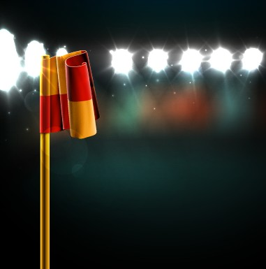 Spotlights and flag design vector free