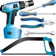Realistic hardware tools vector graphic set 04 free